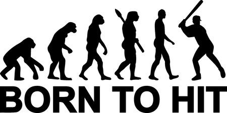ancestors: Baseball Evolution Born to hit Illustration