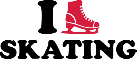 ice alphabet: I Love Ice Skating