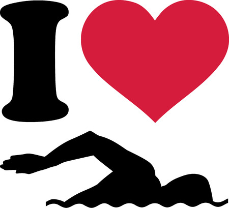 Ik hou van Zwemmer Stockfoto - 40847303