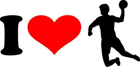 handball: I love Handball Player