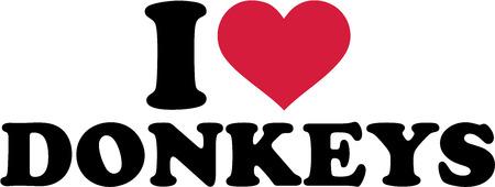 donkey: I love donkeys