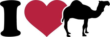 dromedary: I love camel pictogram