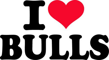 head i: I love Bulls Illustration