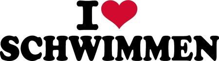 in liebe: Ich liebe Schwimmen