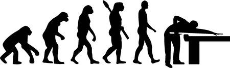 プールのビリヤードの進化  イラスト・ベクター素材