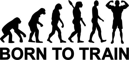 Nacido entrenar Evolución