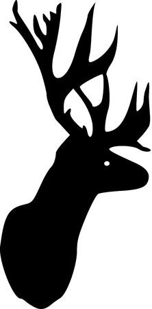 antler: Deer head with antler