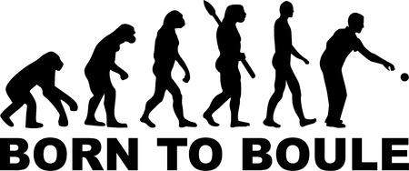 Boule Evolution  イラスト・ベクター素材