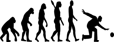 evolve: Bowling Player Evolution Illustration