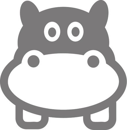 cartoon hippo: Cartoon Hippo Head