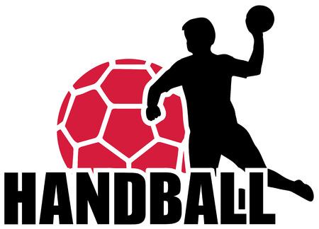 balonmano: Balonmano Set Silueta Bola