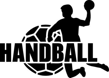 Handbal speler Bal Set