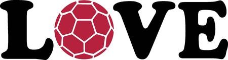 handball: Handball Love Red Illustration