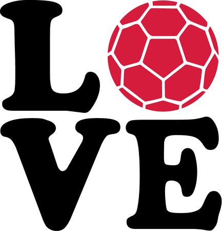 balonmano: Balonmano Amor Vectores