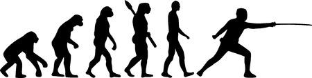 fencing sword: Fencing Evolution Illustration