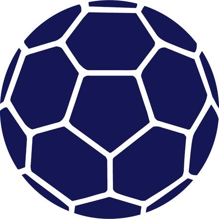 icono deportes: Balonmano Bola Azul Vectores
