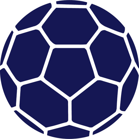 Handball Blue Ball Banque d'images - 40897625