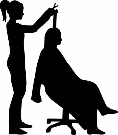 haircutter: Hairdresser Silhouette Haircutter