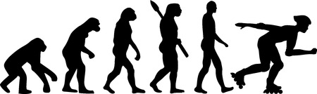 evolve: Roller Skating Evolution Illustration