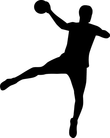 Handball Player Throw