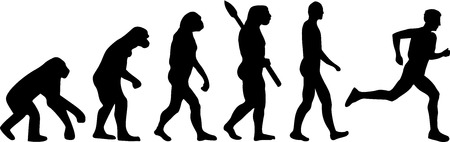 Runner Marathon Evolution Illustration