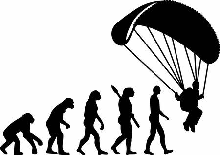 Skydiver Paraglider Evolution