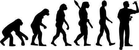 進化ダーツ  イラスト・ベクター素材