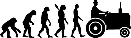 트랙터 농부 진화