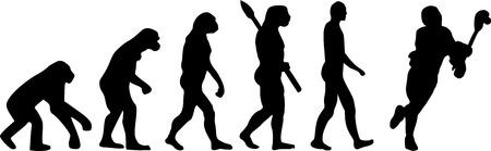 ancestors: Lacrosse Evolution Illustration
