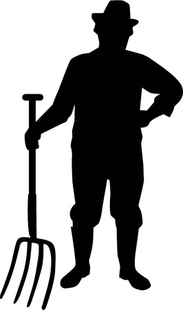 farmer: Farming Farmer Silhouette Illustration