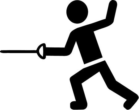 swordsman: Fencer Pictogram