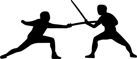 fencers: Two Fencers fighting