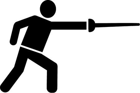 fencing: Fencing Pictogram