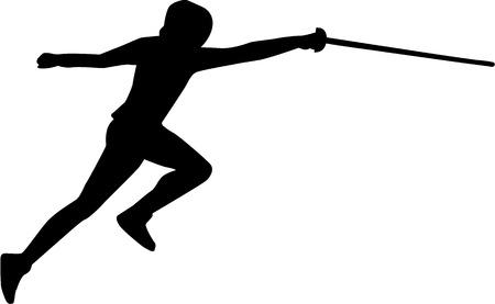 esgrimista: Fencer Silueta