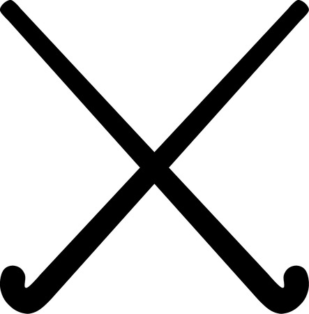 field hockey: Field Hockey Sticks Illustration