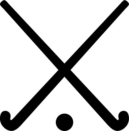 field hockey: Field Hockey Sticks with ball