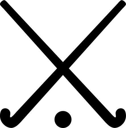 Hockey Sticks met bal Stockfoto - 40898320