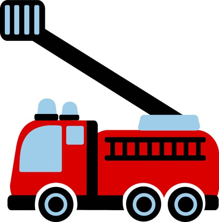 firefighting: Firefighter Car Illustration