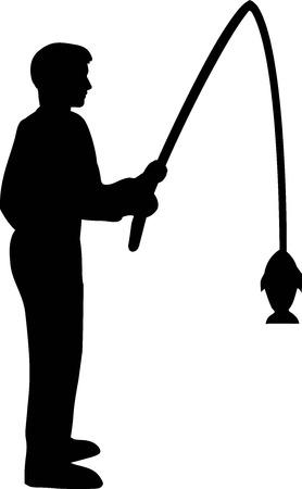silueta hombre: Pesca Silueta Hombre