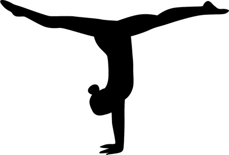 Gymnastiek Girl Stock Illustratie