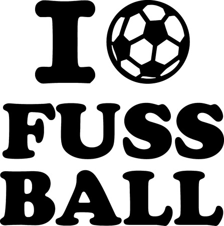 in liebe: Ich liebe Fussball