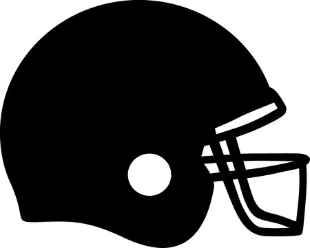 football helmet: Football Helmet Illustration
