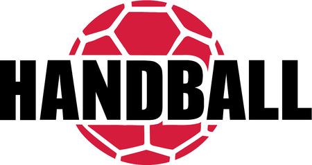 handball: Handball Word and Ball