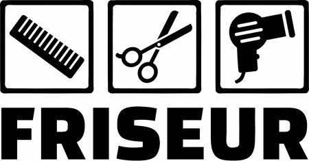 coiffeur: Friseur Coiffeur Ic�nes