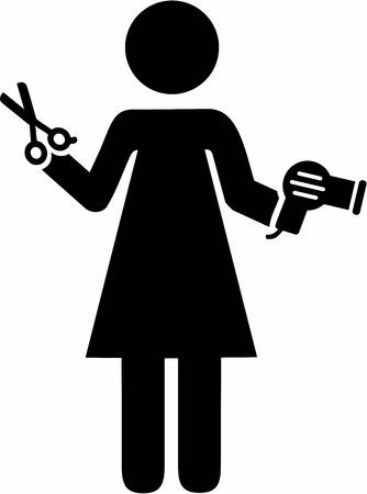 Hairdresser Pictogram Illustration