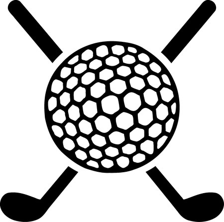 Golf Clubs crossed with Ball