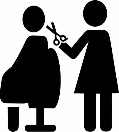 haircutter: Hairdresser Pictogram Illustration