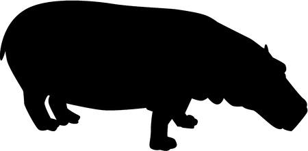 hippopotamus: hipopótamo Siilhouette