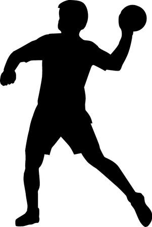 Handbal illustratie