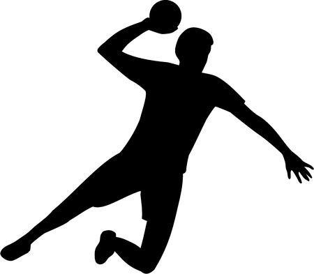 balonmano: Jugador de Balonmano Vectores